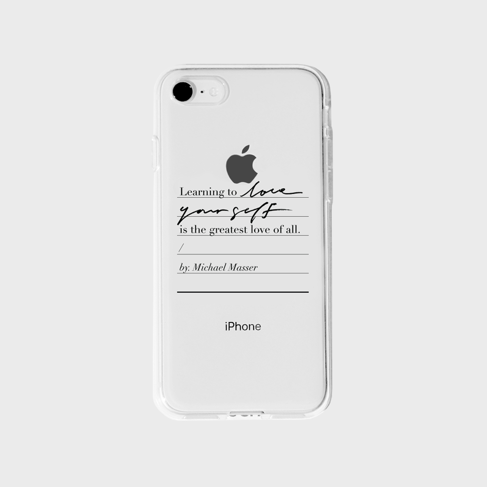 Love yourself Phone case - Jelly Black