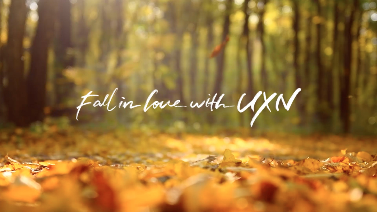 채널UXN 가을시즈널 ID 'Fall in love with UXN'