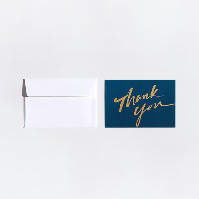 Thank you calligraphy message card