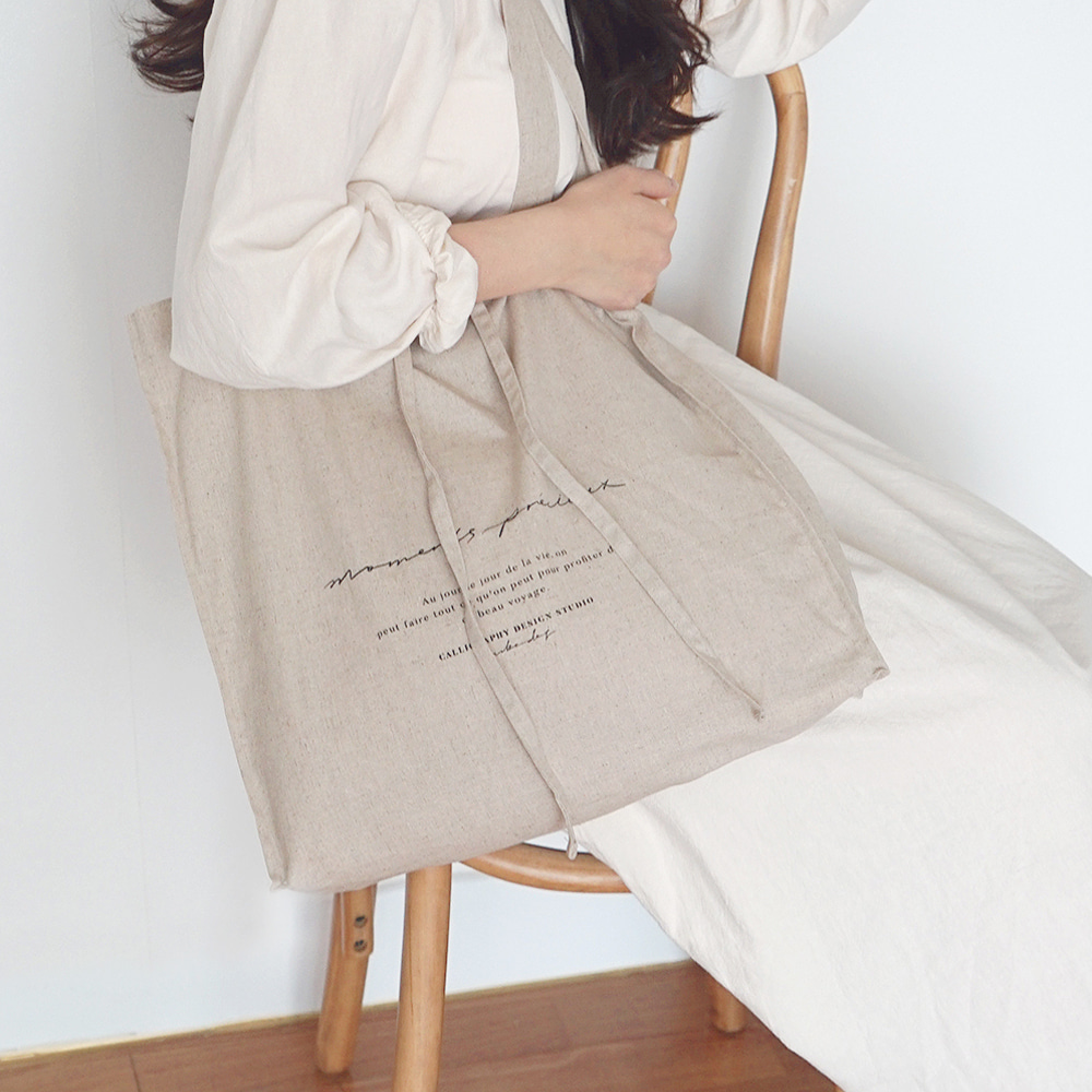 Moments Linen Bag - Beige