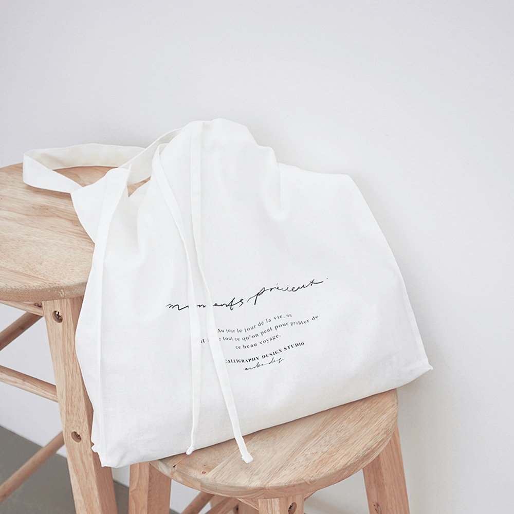 Moments Linen Bag - White