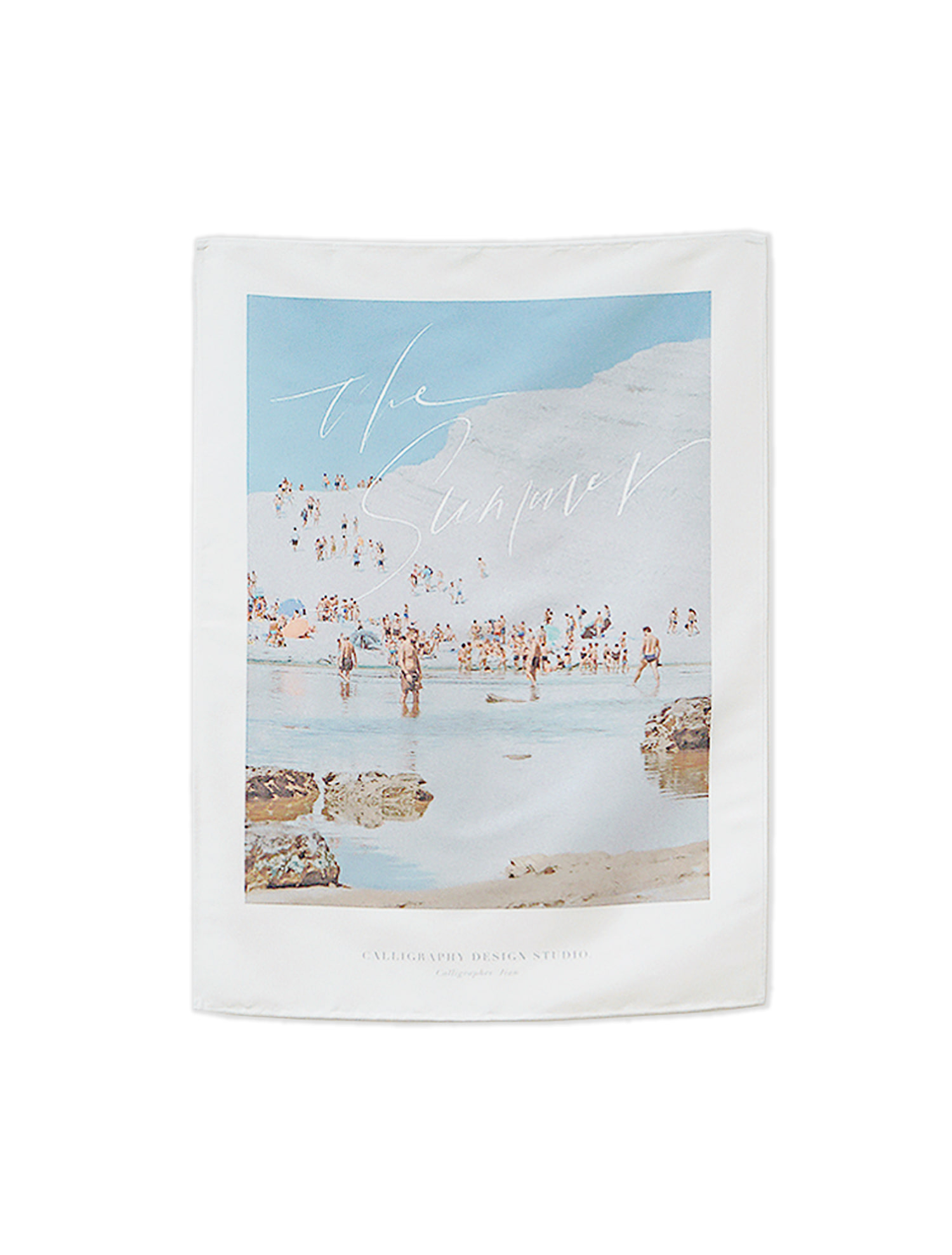 Calligraphy Fabric Poster - The Summer